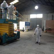 Retirada de tejado de uralita en Palencia «Paredes de Nava»