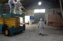 """Retirada de tejado de uralita en Palencia """"Paredes de Nava"""""""